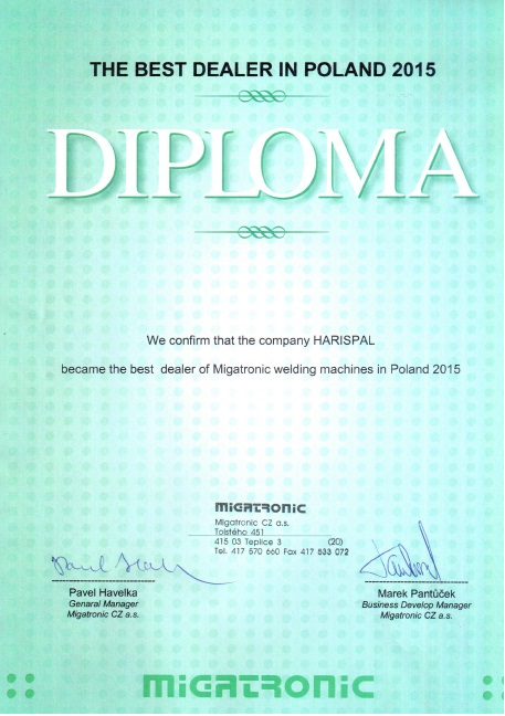 Dyplom Migatronic